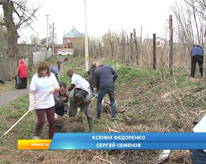 Депутаты Курской областной Думы вышли на субботник