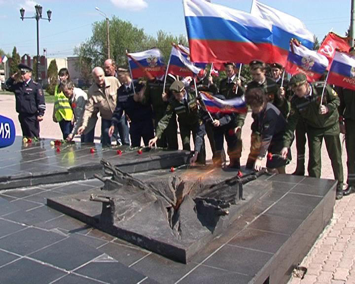 В Курске стартовал автопробег в честь Дня Победы