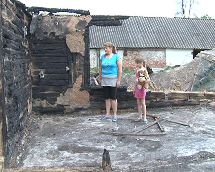 У жительницы Суджанского района сгорел дом. Женщина просит помощи