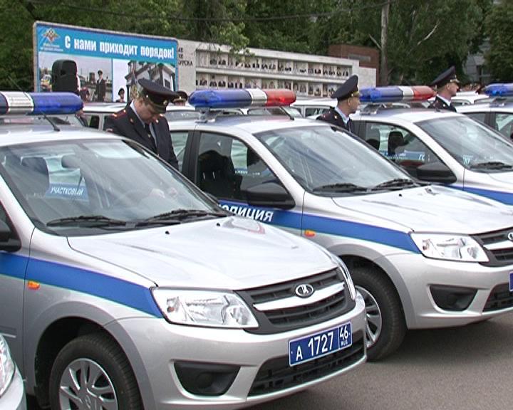 Курским полицейским подарили новые служебные автомобили