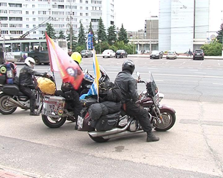 В  Курск прибыл мотопробег «Огненный таран»