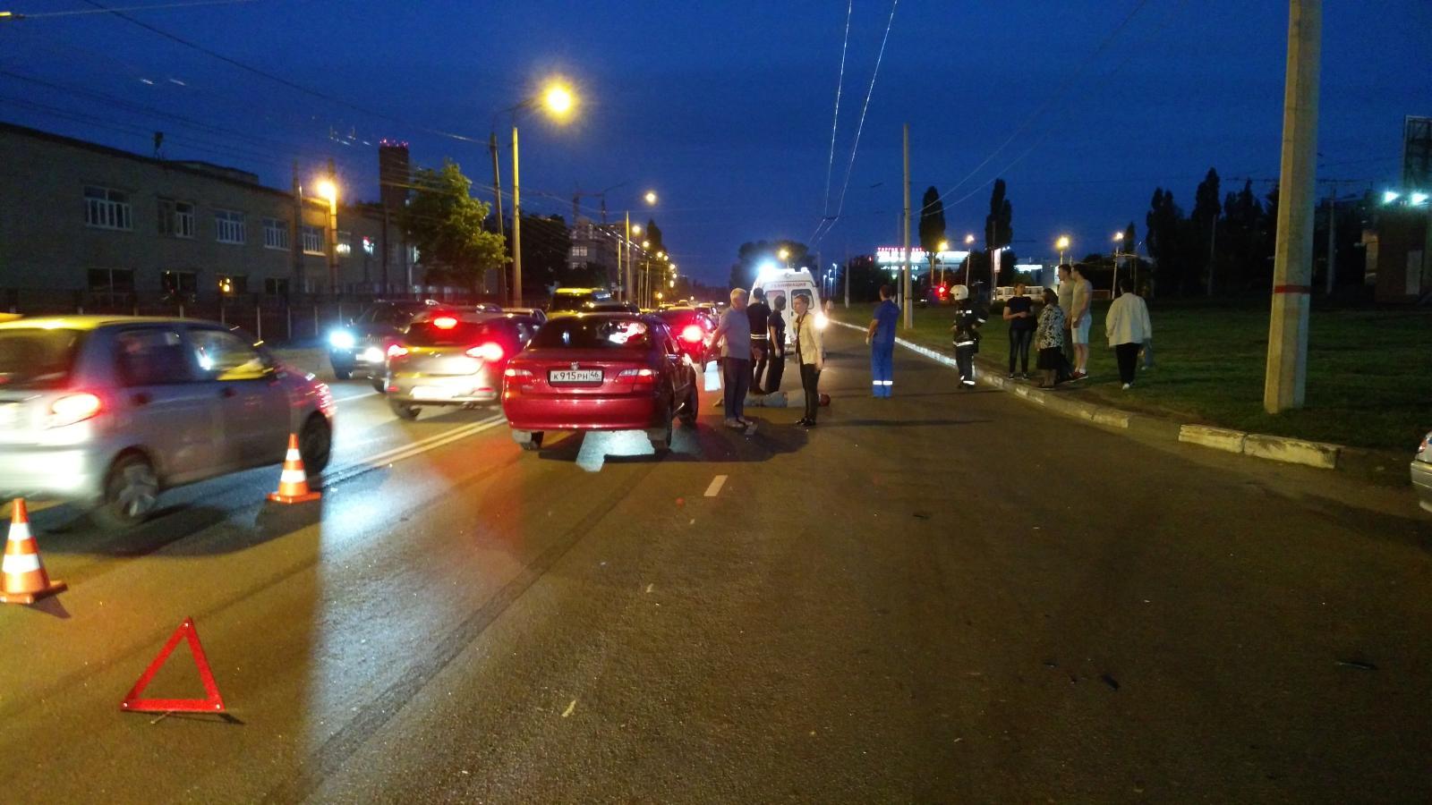 В Курске На 50 лет Октября Фиат сбил пешехода