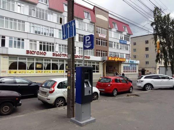 Платные парковки принесли бюджету Курска чуть больше 2 миллионов рублей