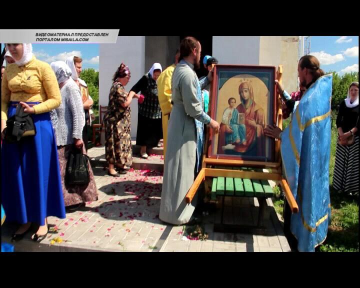 В Знаменском храме села Колодное Курского района состоялся торжественный молебен