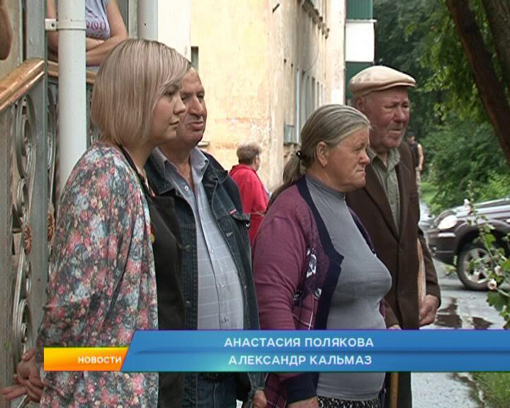 В Курске старый клен рухнул на  иномарку