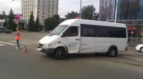 Авария в Курске возле Центрального рынка: есть пострадавший (фото)