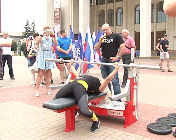 В Курске прошли показательные выступления 14-кратного рекордсмена мира по пауэрлифтингу