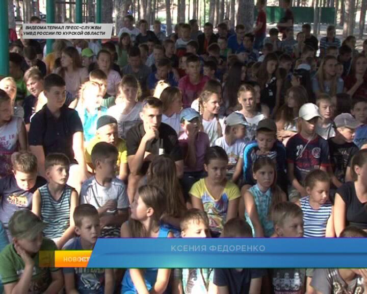Курск. Необычная тренировка  в детском оздоровительном лагере.