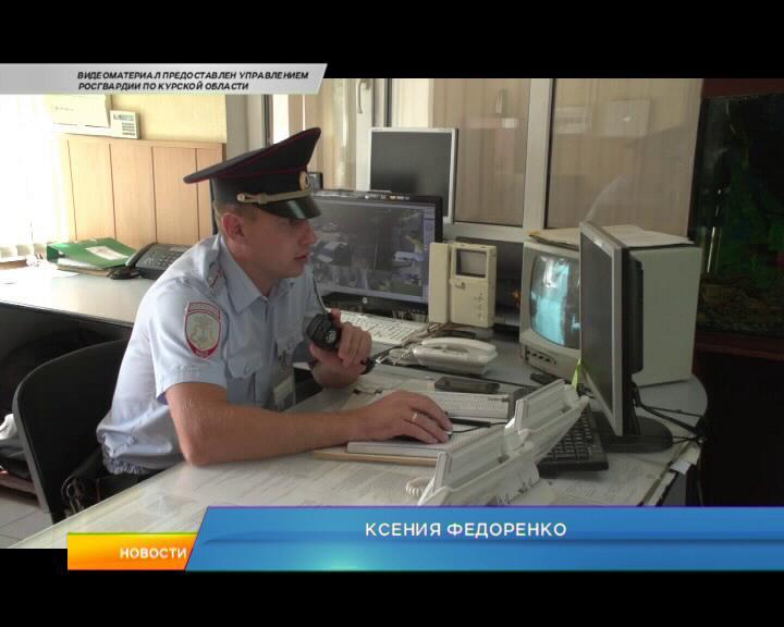 Курск. 65 лет со дня основания отмечают сотрудники вневедомственной охраны.
