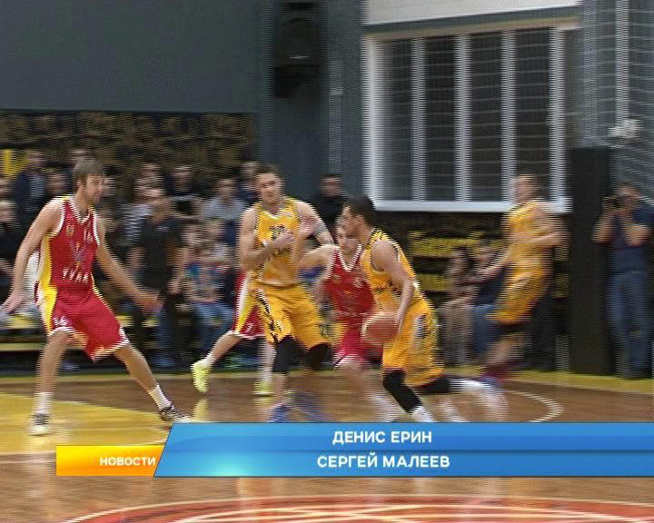 В спортивном комплексе Русичи проходит вторая игра в противостоянии курской баскетбольной команды и тульского Арсенала