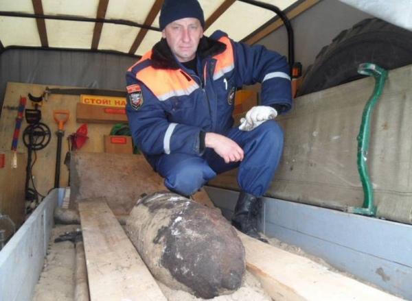 В Курской области обнаружили 100-килограммовую авиабомбу