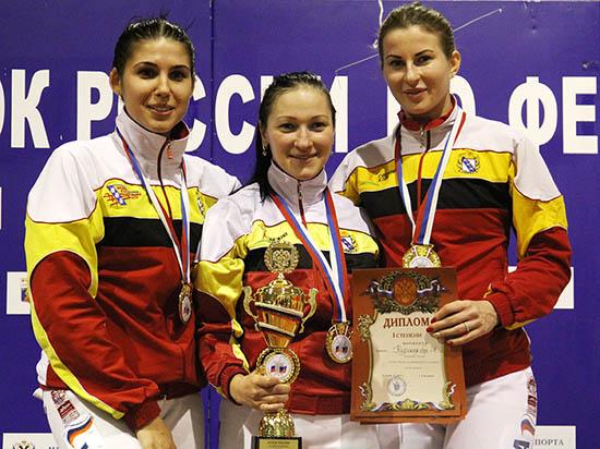 Курская рапиристка выиграла национальный Кубок